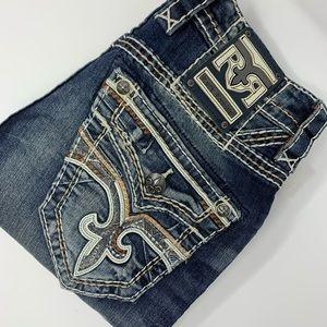 Rock Revival Hern Straight Dark Wash Jeans!